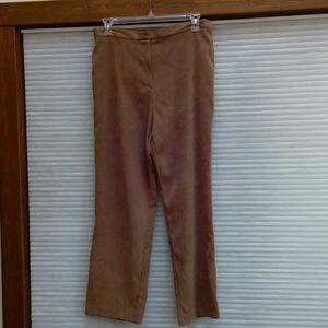 Faux Suede Dress Pants